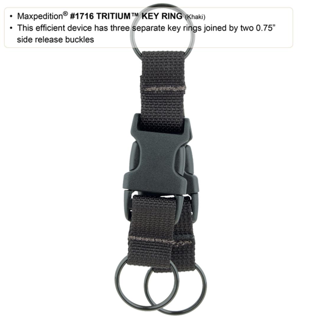 Maxpedition TRITIUM™ KEY RING - Black image 2