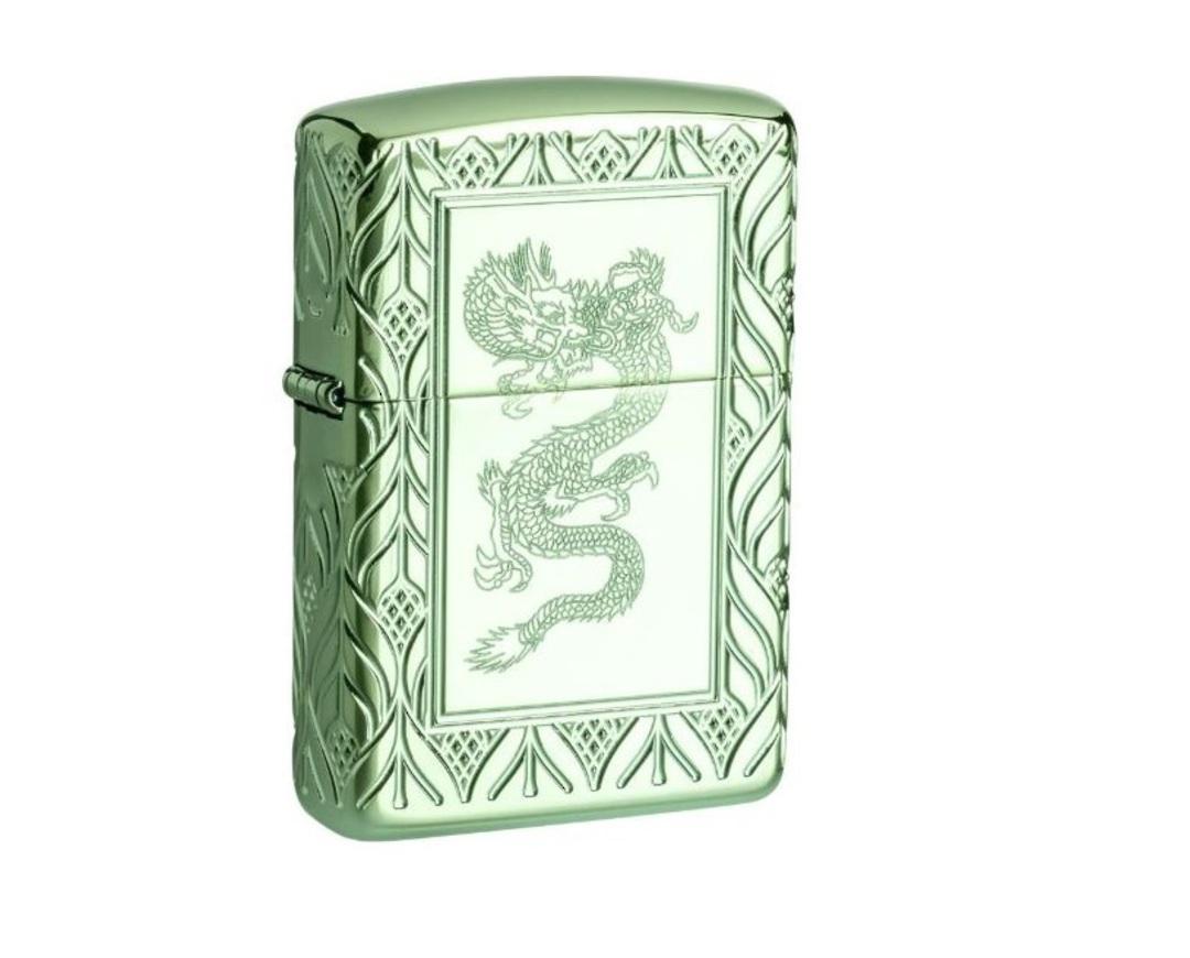 Zippo Armor® High Polish Green Elegant Dragon image 0