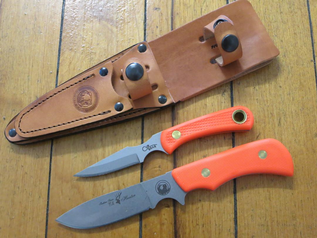 Knives of Alaska Trekker Series Elk Hunter/Cub Bear Combo - Orange SureGrip - 201FG image 0