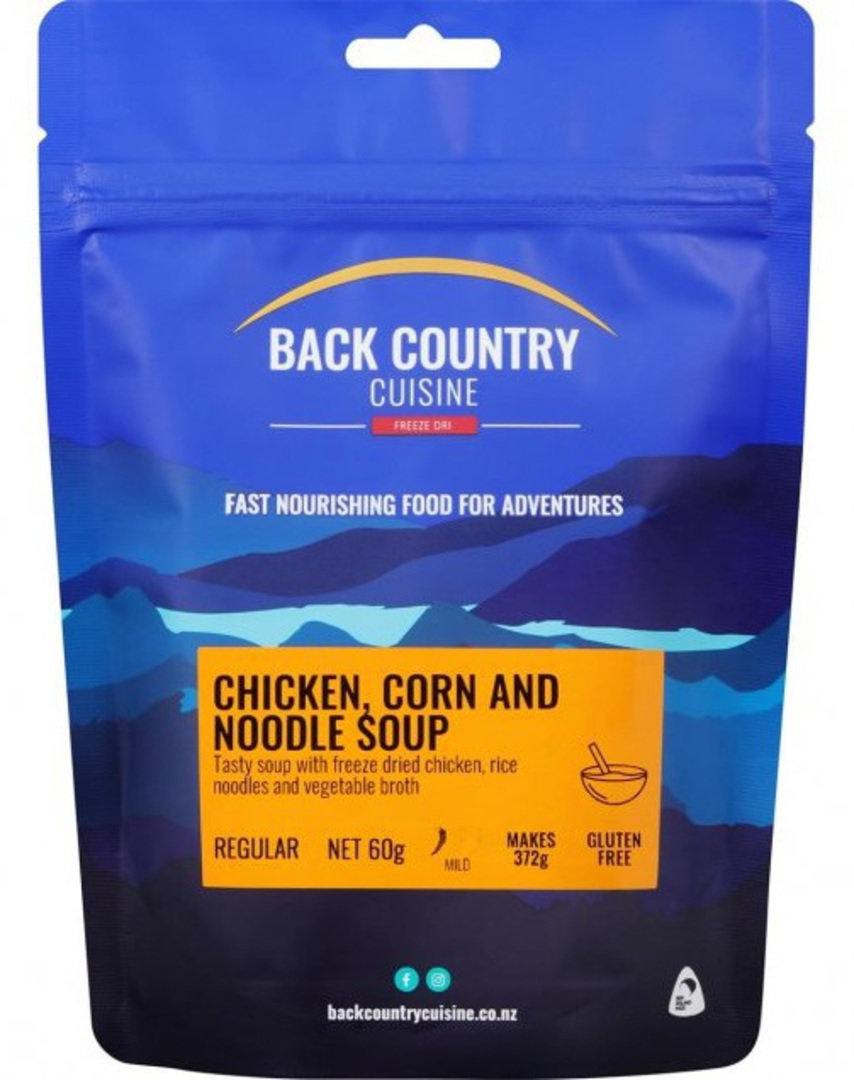 Back Country Cuisine Chicken, Corn and Noodle Soup REGULAR image 0