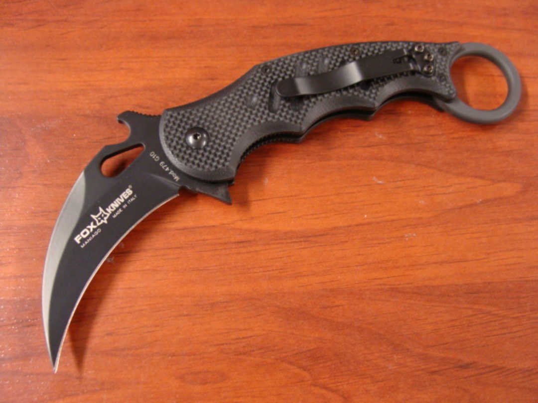 Fox Knives Karambit Folding Knife - BLACK G10 image 1