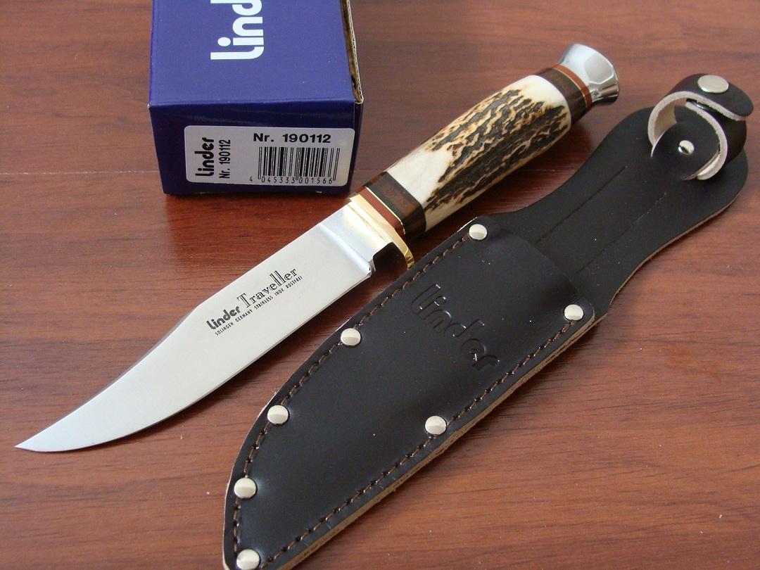 """Linder Traveller Stag Knife 9"""" German made image 0"""