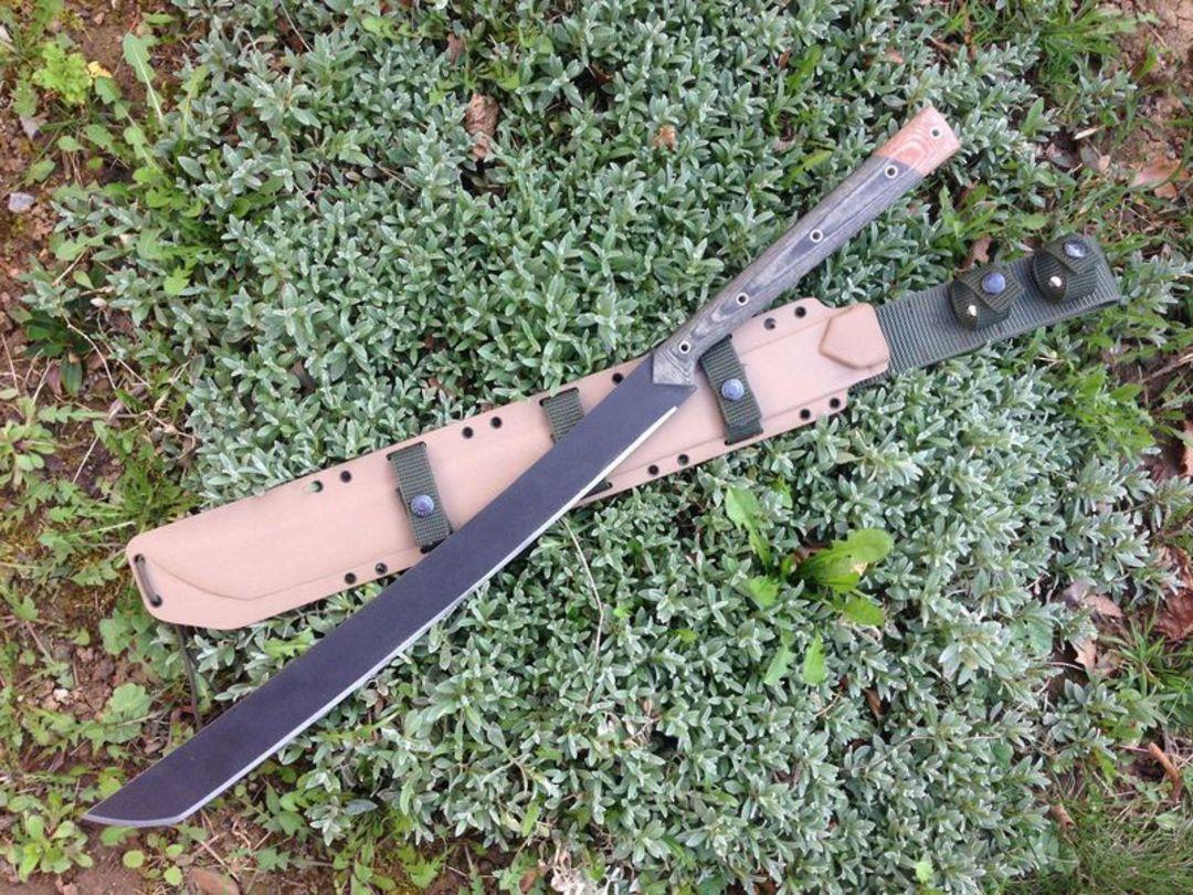 Condor Yoshimi Machete Carbon Steel Blade, Micarta Handles, Kydex Sheath image 0