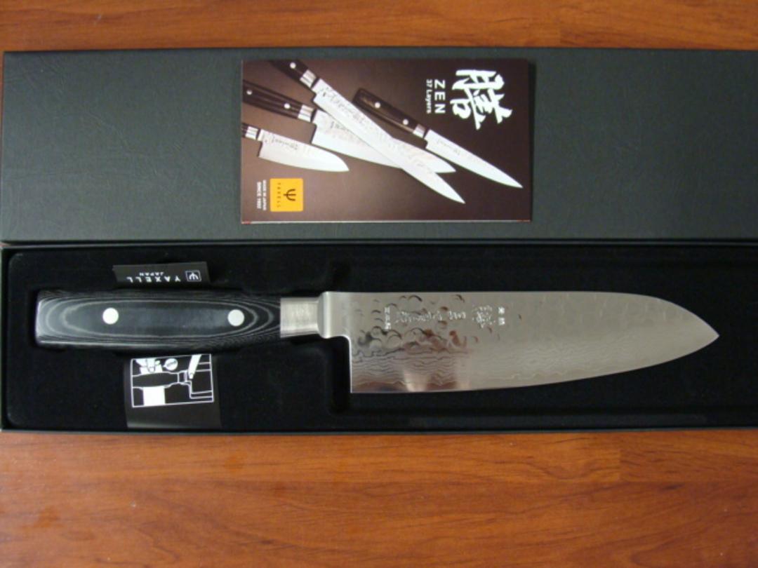 Zen Damascus VG-10 Japanese Santoku Knife 165mm - 37 Layers image 3