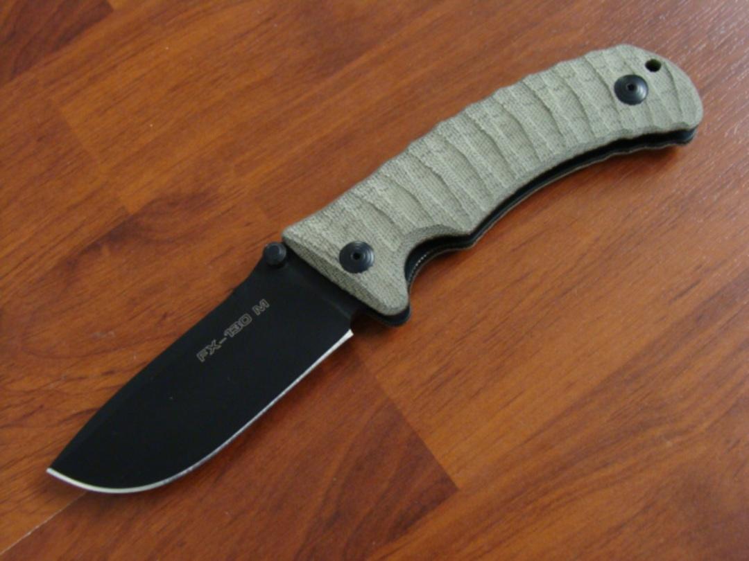 Fox Knives Pro Hunter Folding Knife, N690Co Blade, Leather Sheath FX130MGT image 2