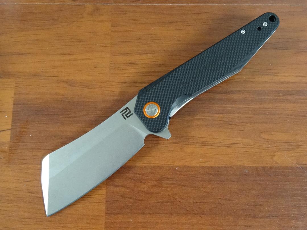 Artisan Osprey Flipper Knife D2 Blade, G10 Handles image 0