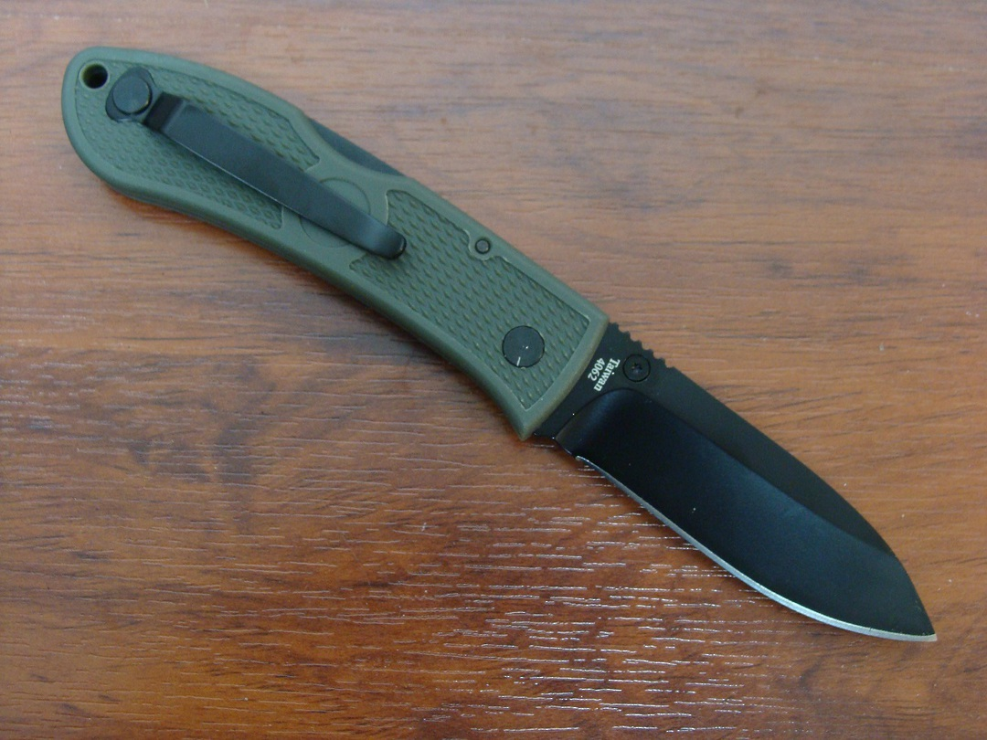 Ka-Bar Dozier Folding Hunter Knife - Foliage Green image 1