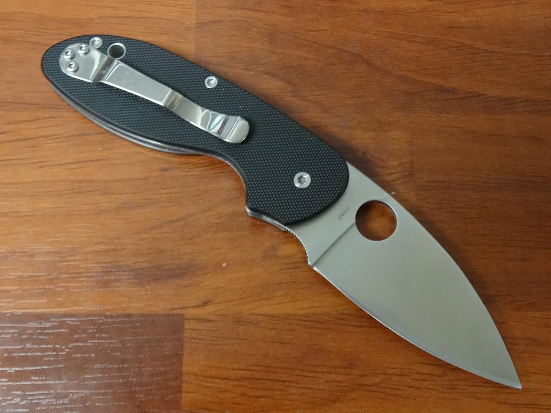 Spyderco Efficient Folding Knife, Black G10 Handles image 1