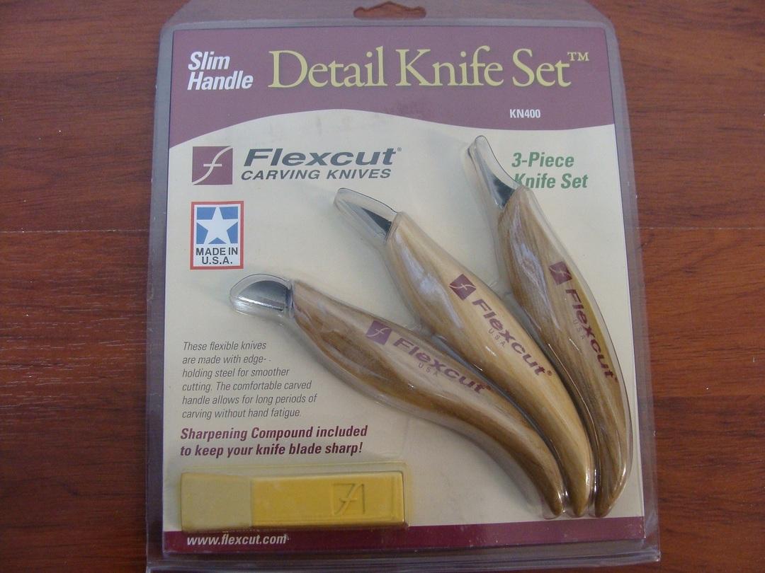 Flexcut KN400 3 Slim-Handle Detail Knife Set image 0