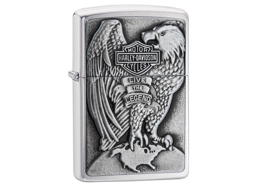 Zippo Harley Davidson Eagle & Globe Emblem Lighter image 0