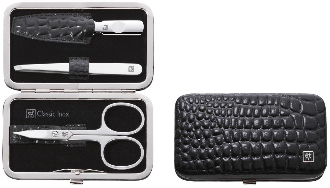 Zwilling J.A Henckels Classic Inox Snap Fastener Case 3 pc Manicure Set image 0
