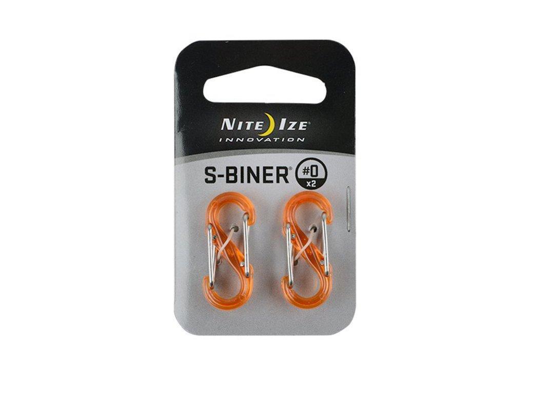 Nite Ize S-Biner #0 SET OF 2 Plastic Orange image 0