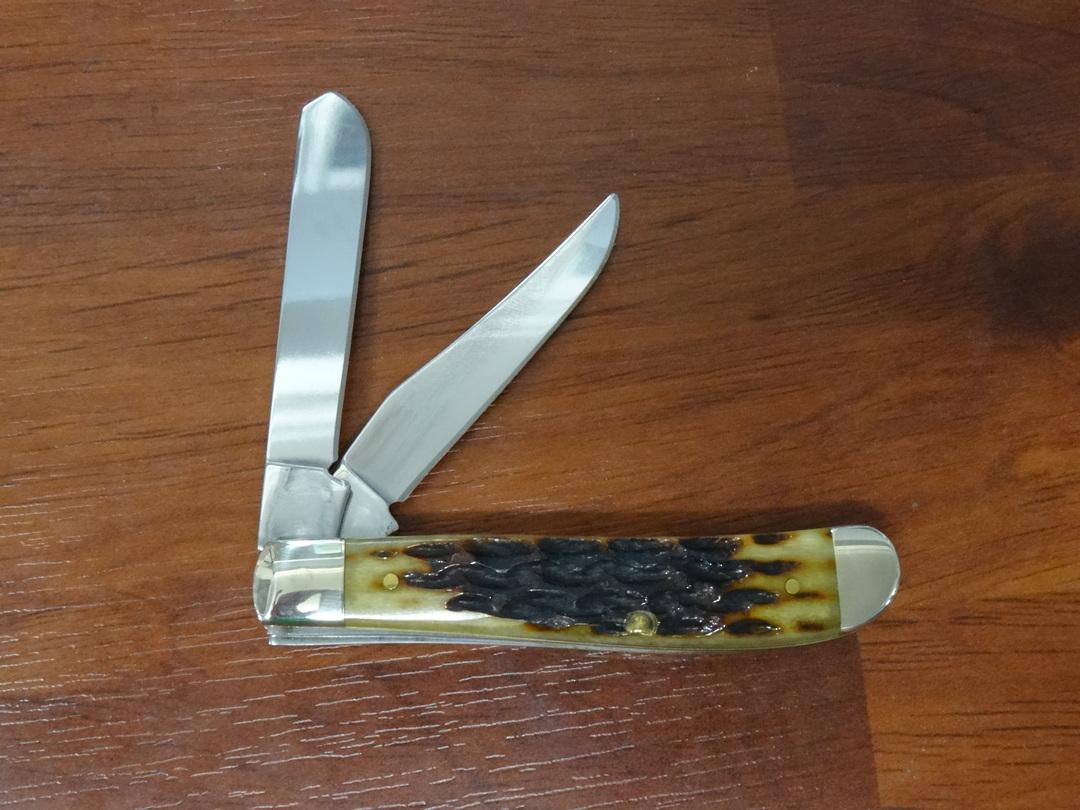 Case Cutlery Mini Trapper Heritage Molasses Jigged Bone Pocket Knife -31638 image 1