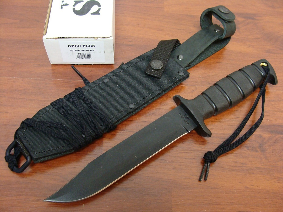 Ontario SP1 Marine Combat 8300 Fixed Knife w/sheath image 0