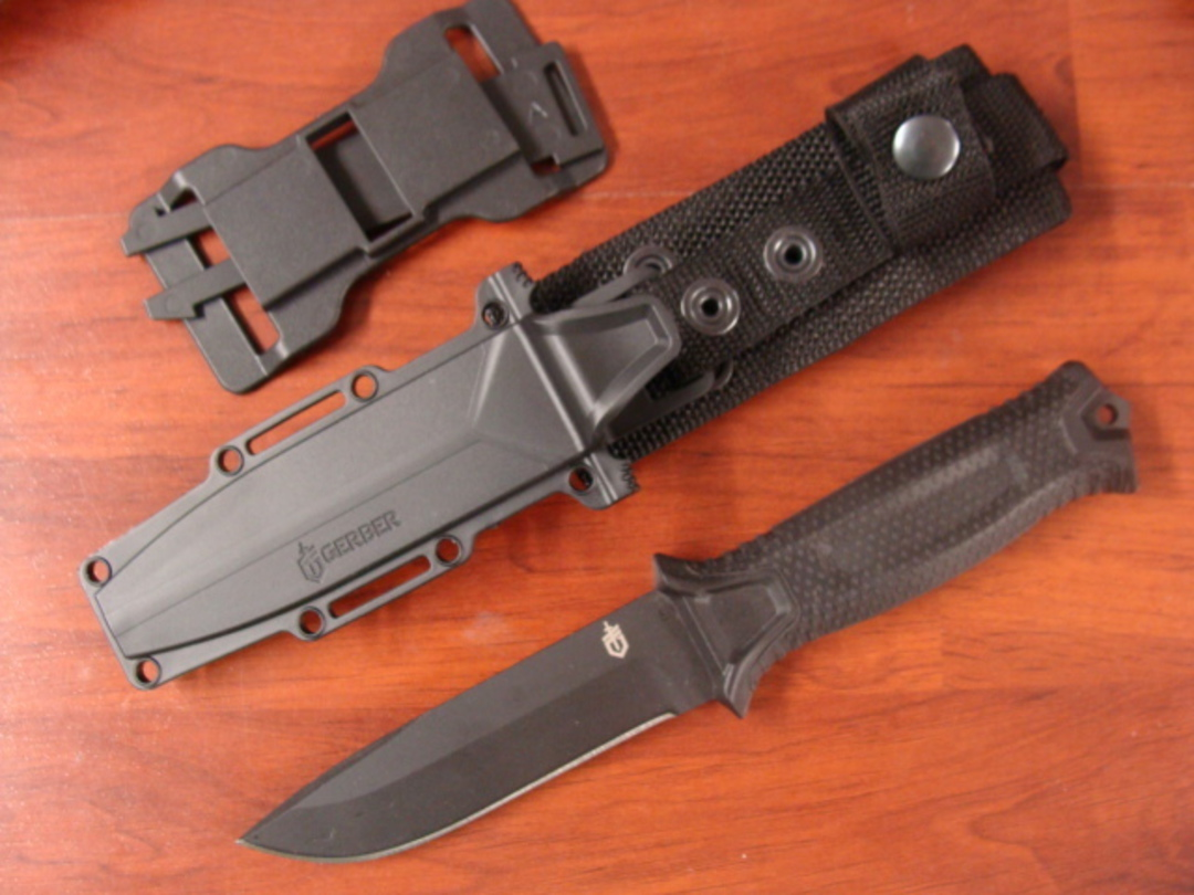 Gerber Strongarm Fixed Blade Knife- Black image 0