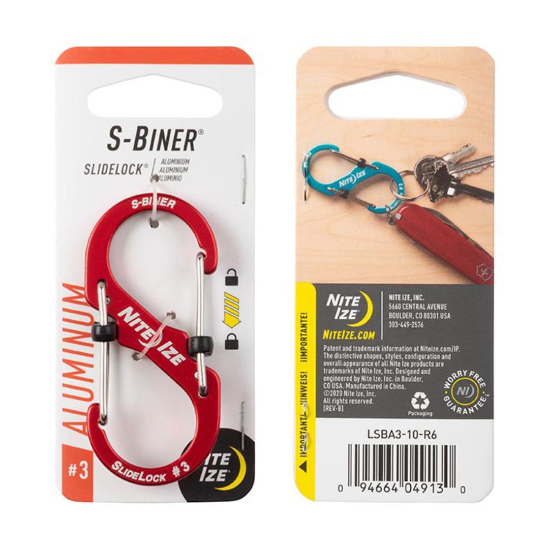 Nite Ize S-Biner Slidelock #3 Red image 0