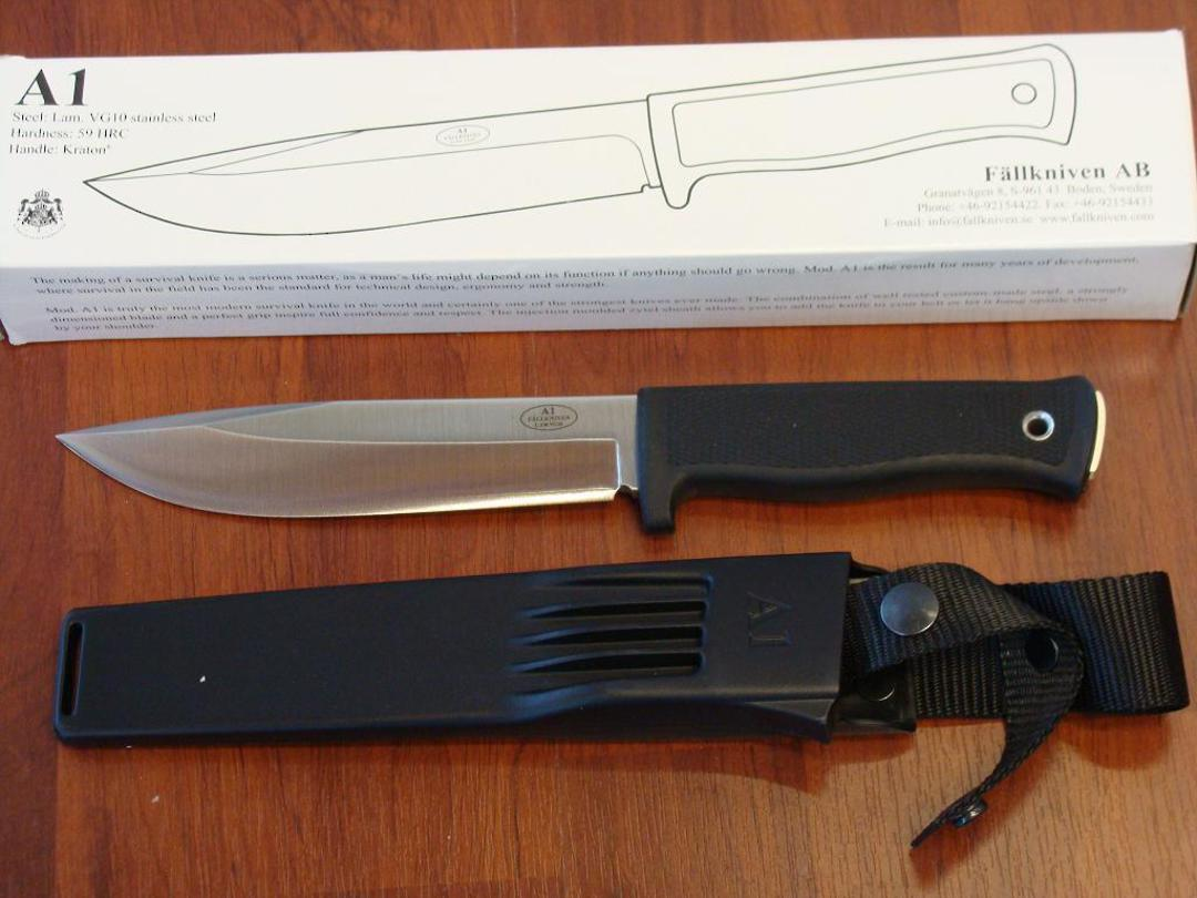 Fallkniven A1 Army Survival Knife - Zytel Sheath image 0