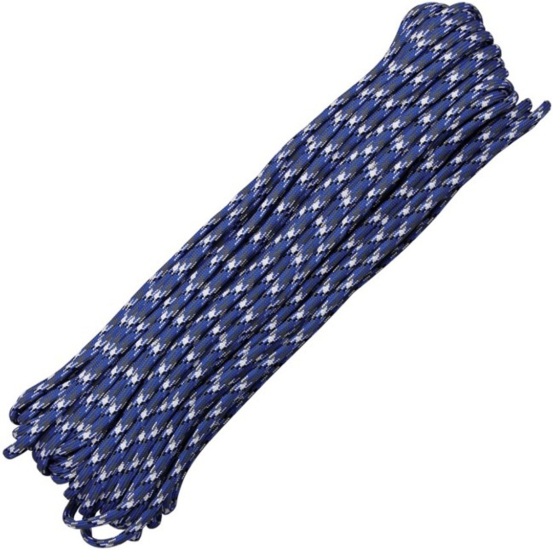 100ft 550 Parachute Cord/Paracord - Blue Camo image 0