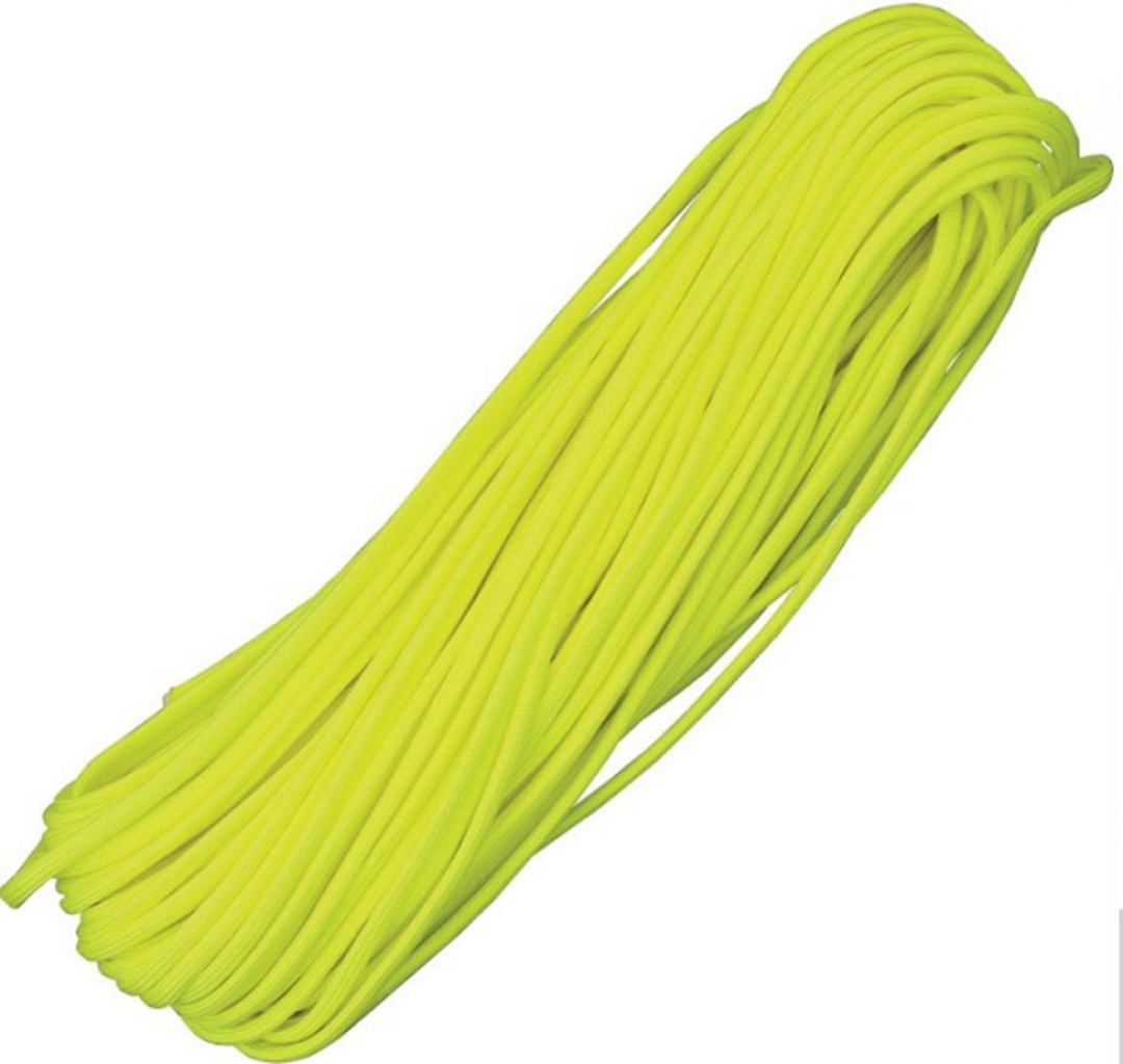 100ft 550 Parachute Cord/Paracord - Neon Yellow image 0