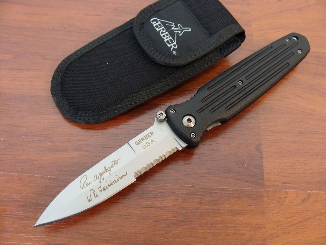 Gerber Applegate Combat Serrated Folding Knife image 0