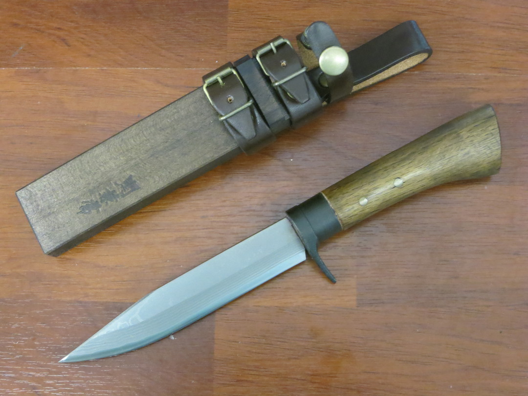 Kanetsune Enchou Japanese Damascus Knife KB447 image 0