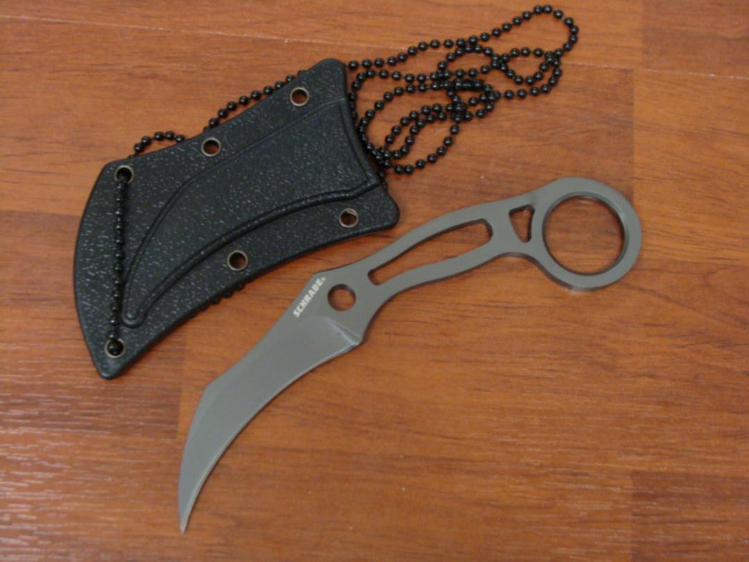 Schrade Skeletonized Tactical Karambit Neck Knife - SCH111 image 0