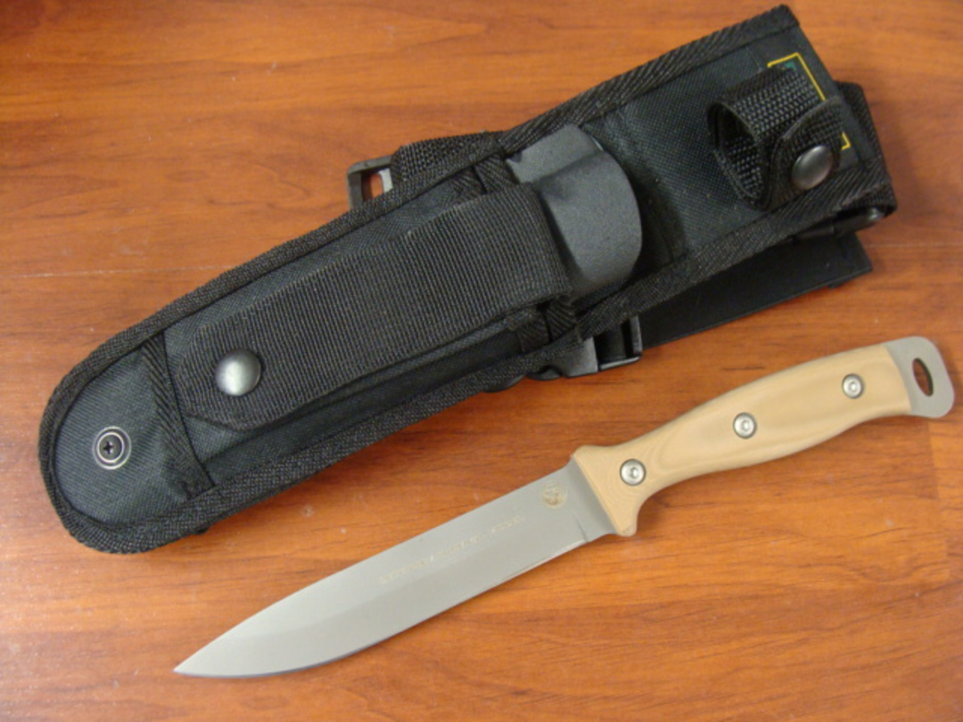 Knives of Alaska Extreme Defense Survival D2 G-10 Knife w/ Nylon Sheath - 843FG image 0