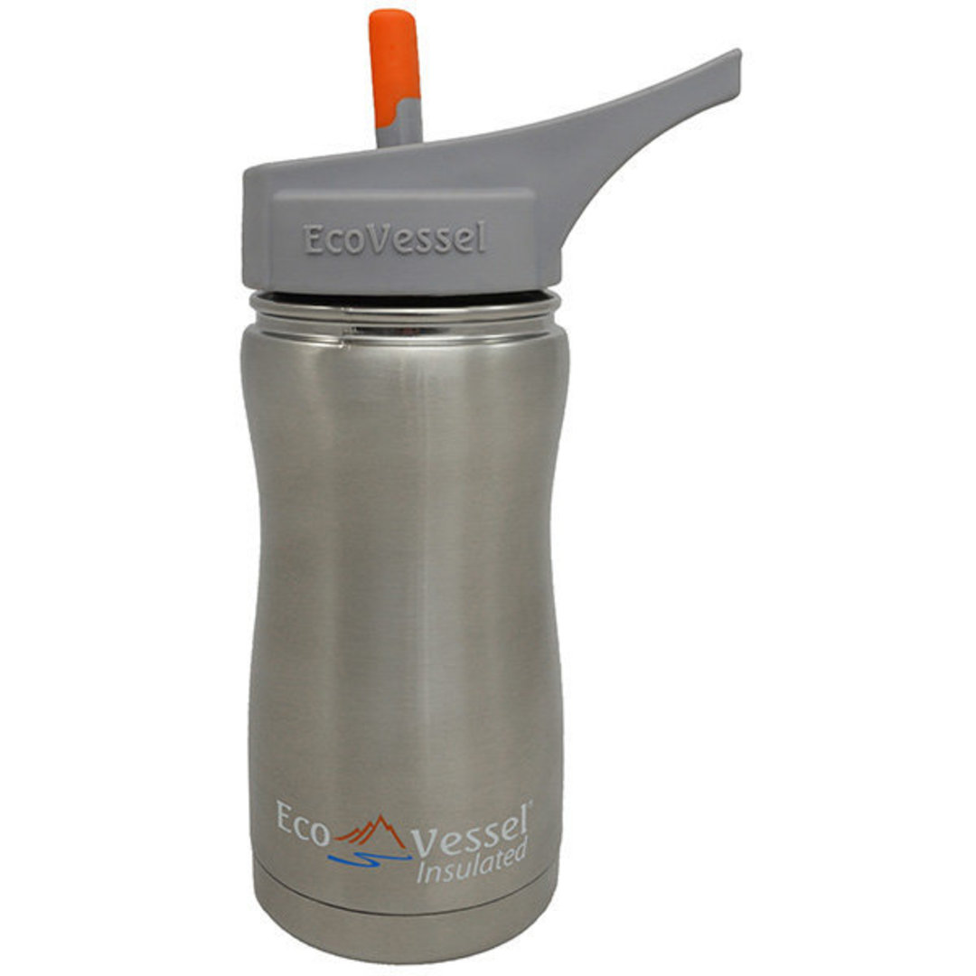 Eco Vessel Frost Triple Insulated Bottle w/Spout, Silver Express, 13 oz image 0