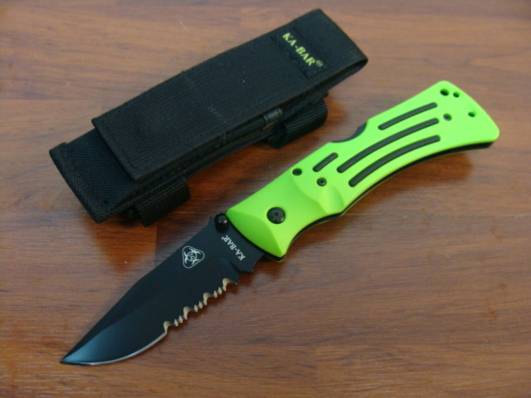Ka-bar Zombie Mule Folder Combo Edge image 0