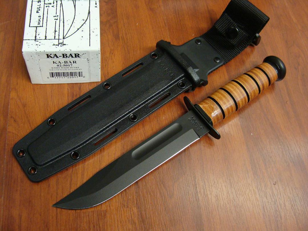 Ka-Bar USMC Fighting Knife - Kydex Sheath image 0