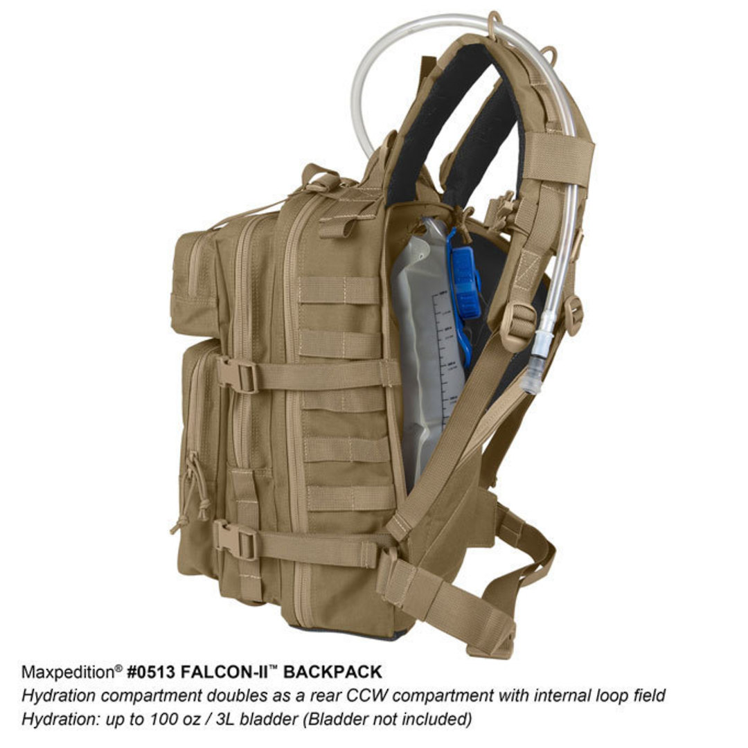 Maxpedition Falcon II Hydration Backpack ~ Black image 5