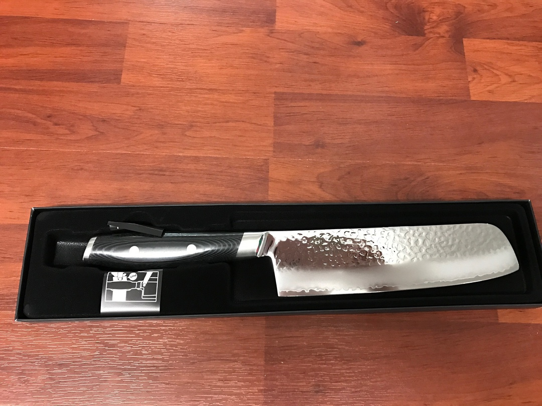 Tsuchimon Damascus VG-10 Nakiri  Knife 180mm - 3 Layers image 2