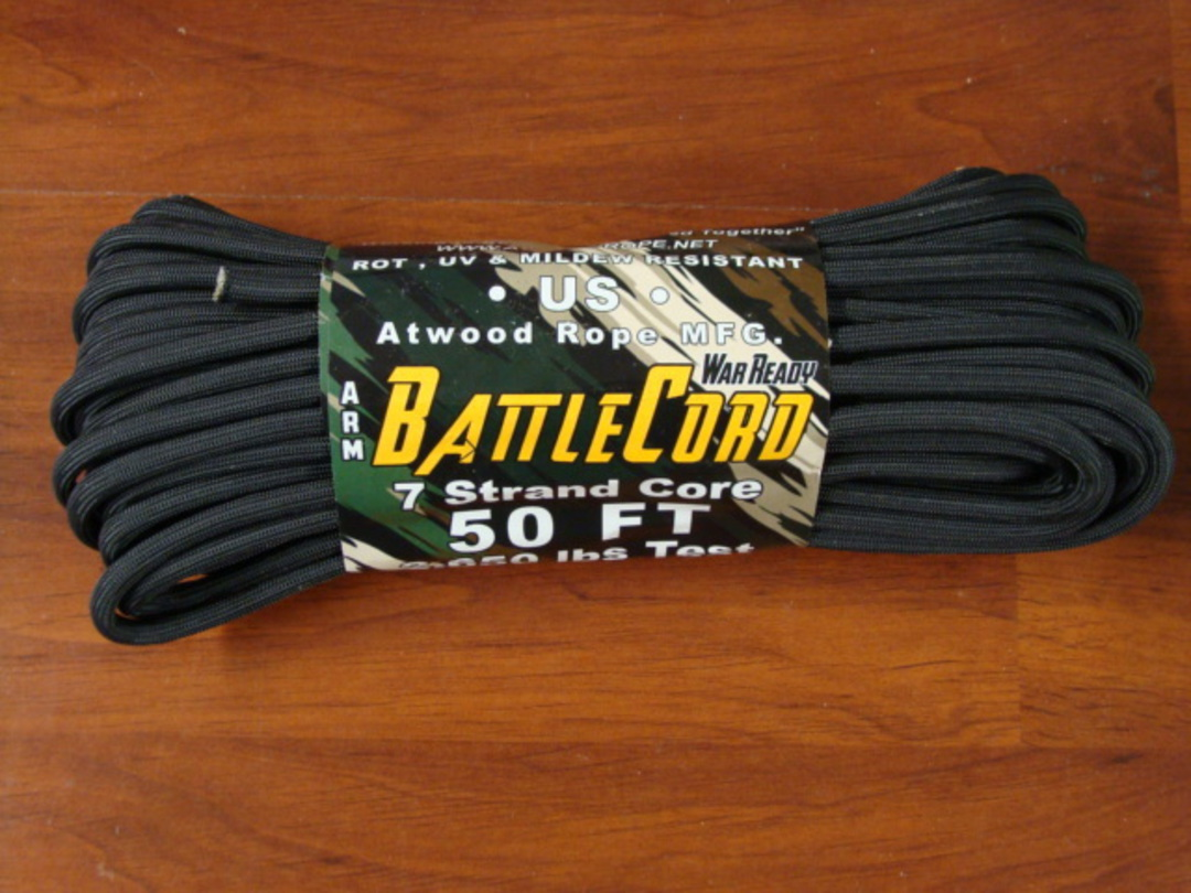 ARM BattleCord/ Battle cord 2,650 lbs Tested - Black image 0