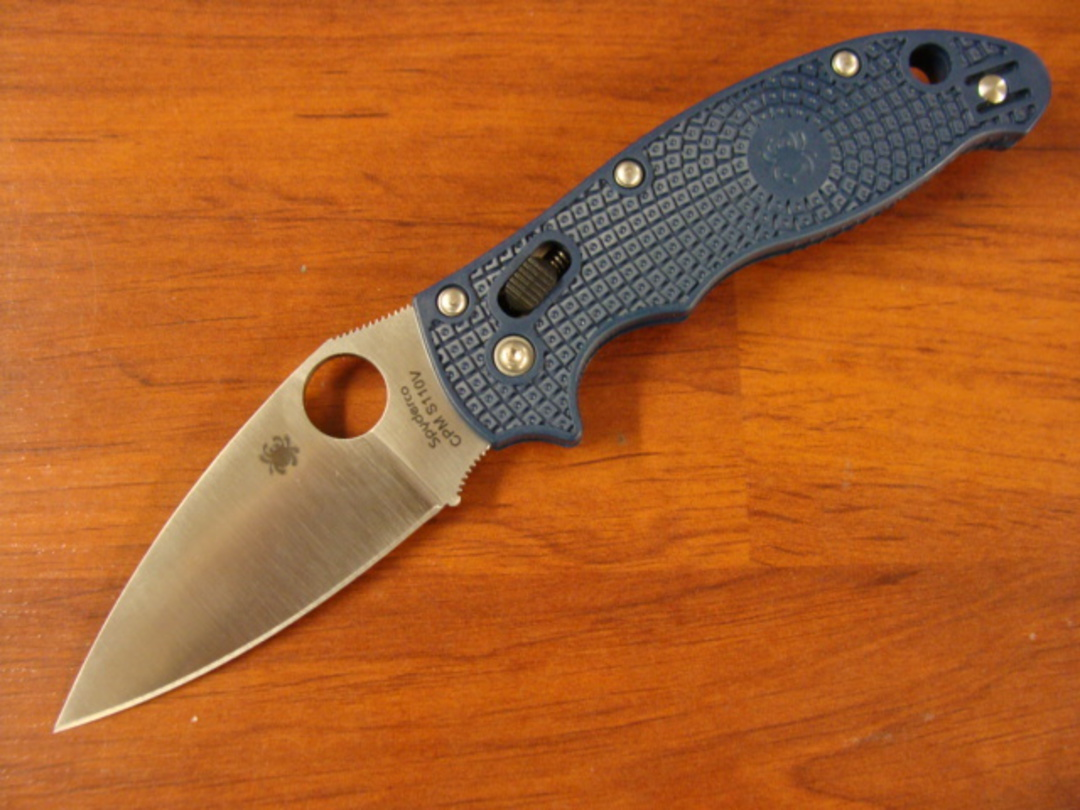 Spyderco Manix 2 Dark Blue Folding Knife image 0