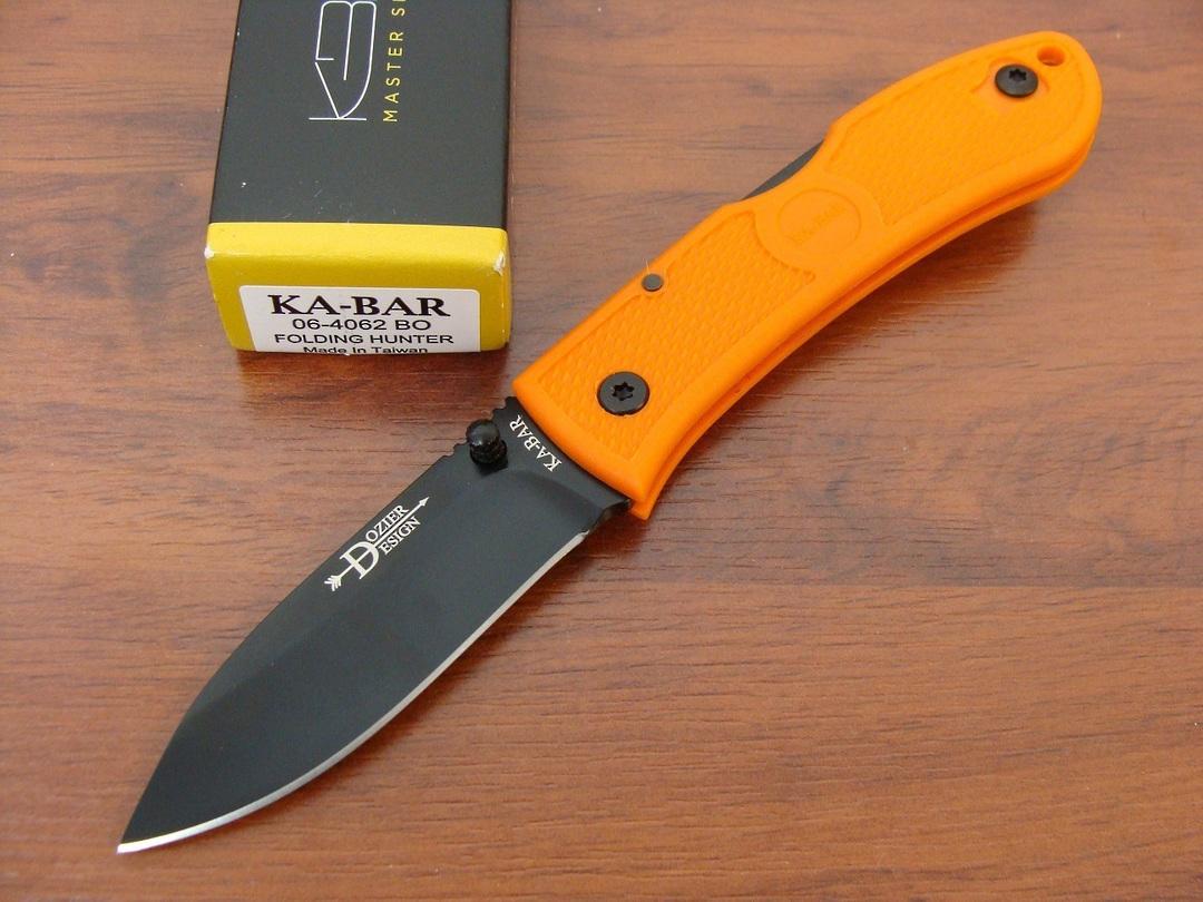 Ka-Bar Dozier Folding Hunter Knife - Orange image 0