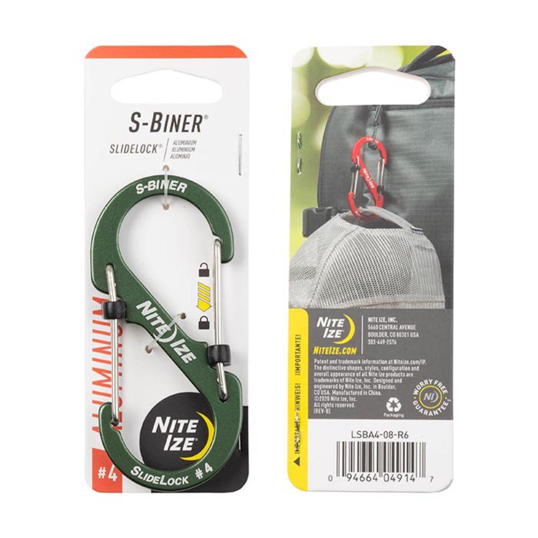 Nite Ize S-Biner Slidelock #4 Olive image 0