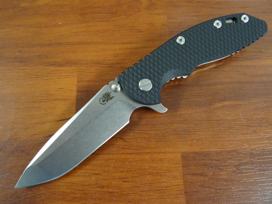 Rick Hinderer Tri-Way XM-18 3.5 Flipper, S45VN Spanto-Stonewash-Black G10 image 0