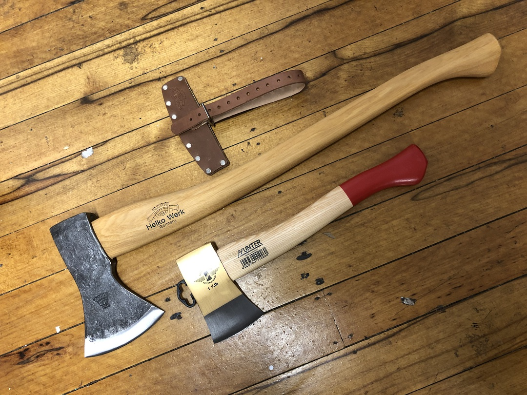 HELKO Traditional Line Black Forest Woodworker Axe 1250g and Hatchet Combo image 0