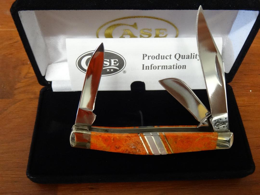 CASE CUTLERY Exotic Orange Coral Medium Stockman Folding Knife - 11108 image 2