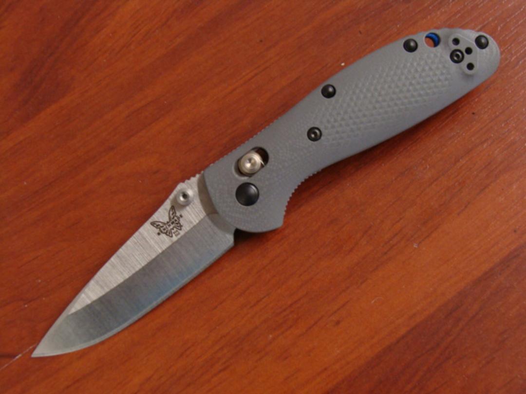 Benchmade Mini Griptilian Gray G10 Handles CPM-20CV Blade image 0