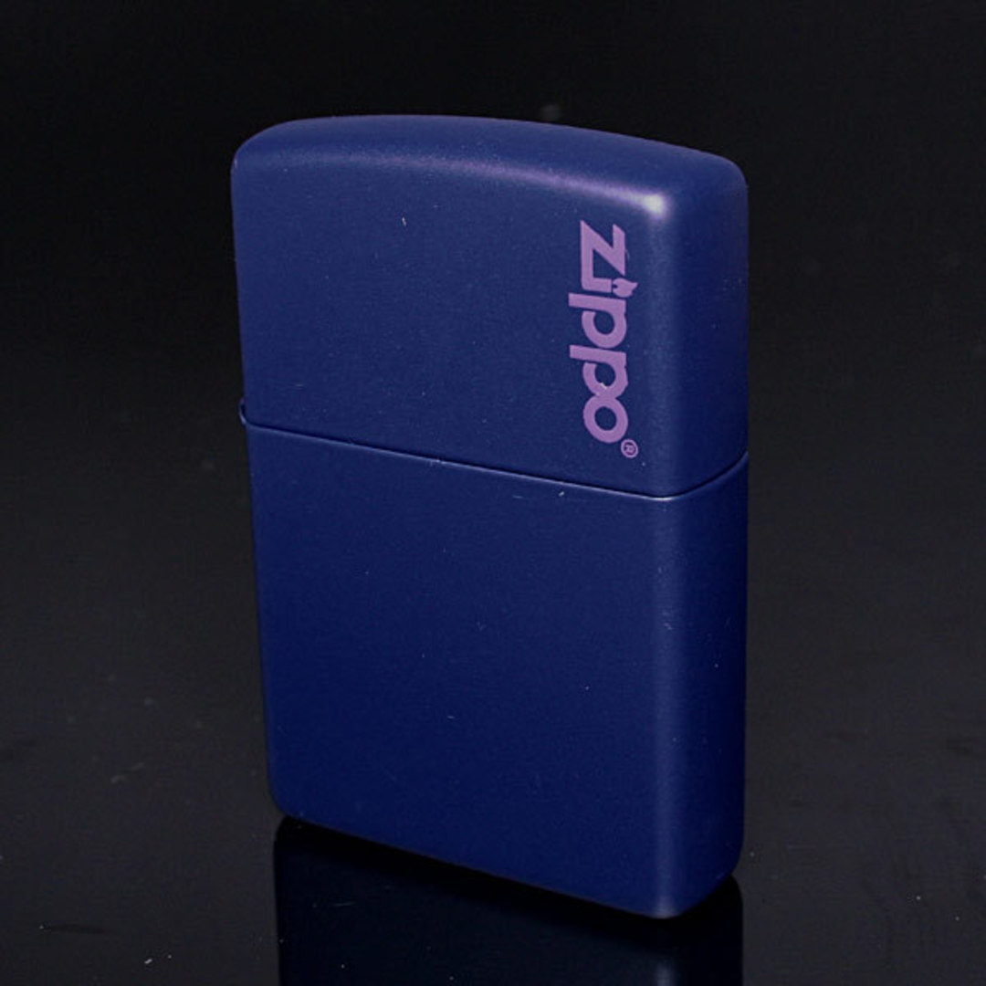 2 X Zippo Navy Matte w/ Logo Lighter image 0