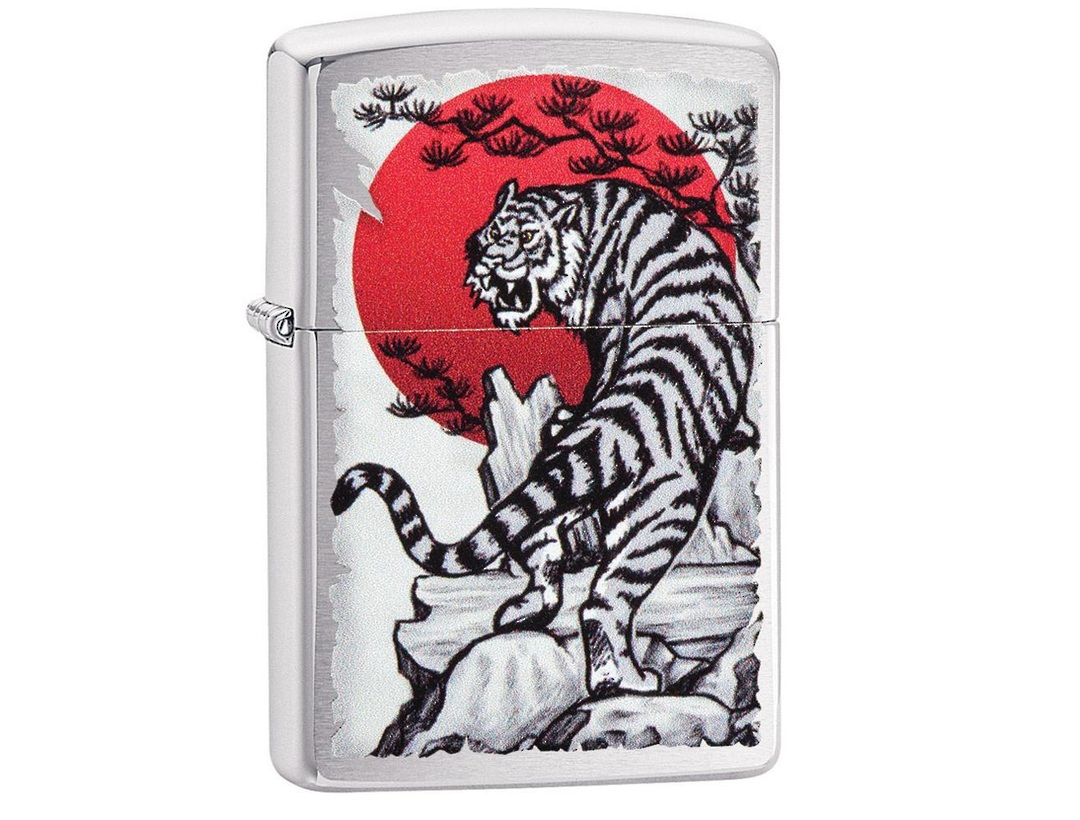 Zippo Asian Tiger Design Lighter image 0