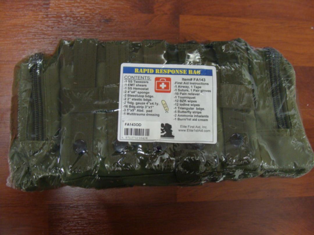 Elite 1st Aid First Aid Rapid Response Trauma Bag #1 - OD GREEN image 2