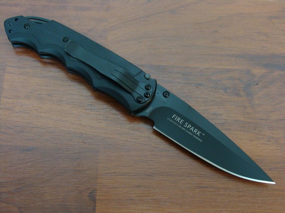 CRKT 1050K Fire Spark Folding Knife - BLACK image 1