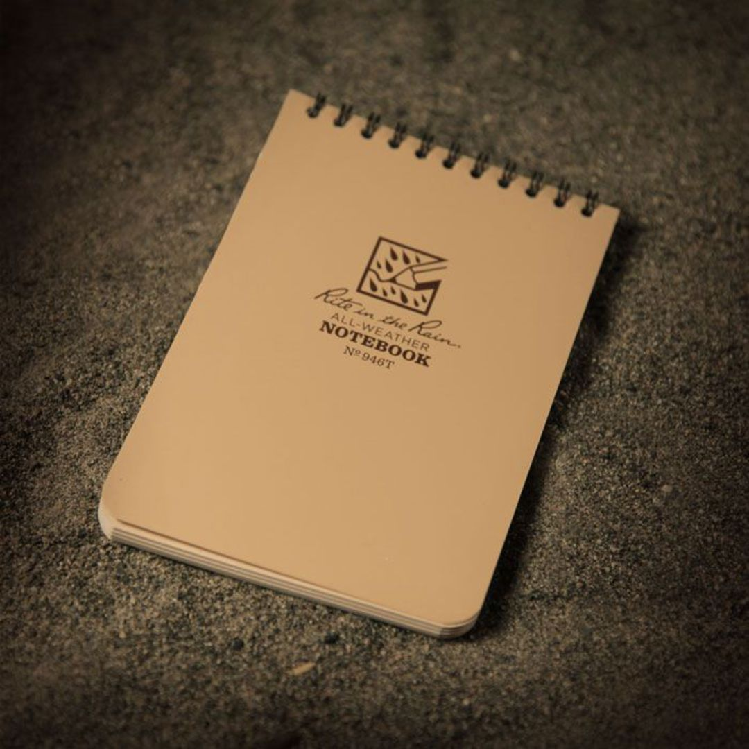 """Rite in the Rain Universal Polydura Tactical Pocket Notebook, 4"""" x 6"""", Tan image 1"""