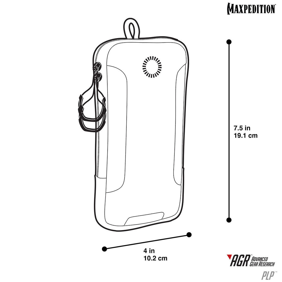 Maxpedition PLP iPhone 6 Plus, iPhone 7 or 8 Plus Pouch, Black image 9