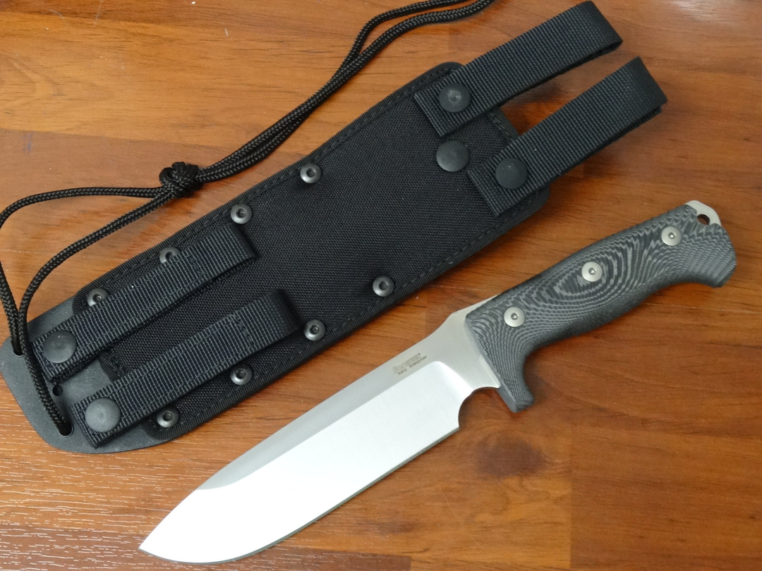 LionSteel M7 Combat / Survival Knife Fixed Sleipner Blade, Micarta Handles, Kydex Sheath image 4