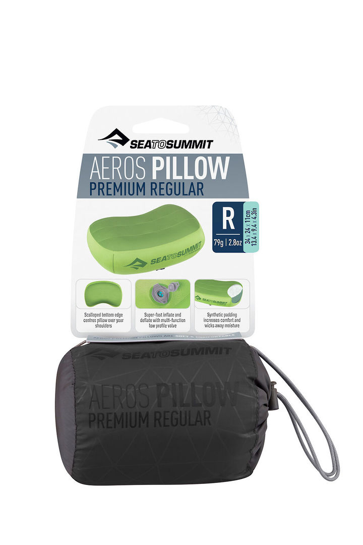 Sea to Summit Aeros Pillow Premium Regular- Grey image 1