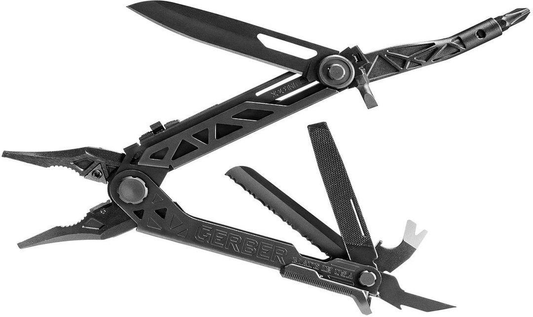 Gerber Center-Drive Black Multi-Tool with M4 Bit Set, Black Berry-Compliant Sheath image 1