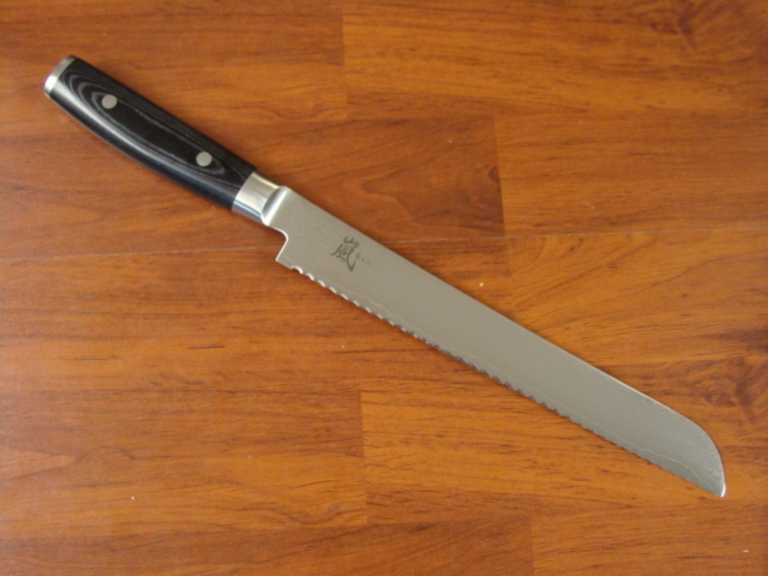 RAN Japanese DAMASCUS BREAD KNIFE 230mm image 1